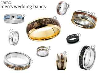 10 mens camo wedding bands - His And Her Camo Wedding Rings