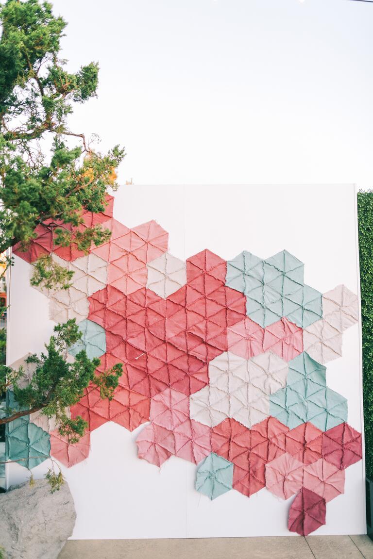 Stitched cloth backdrop