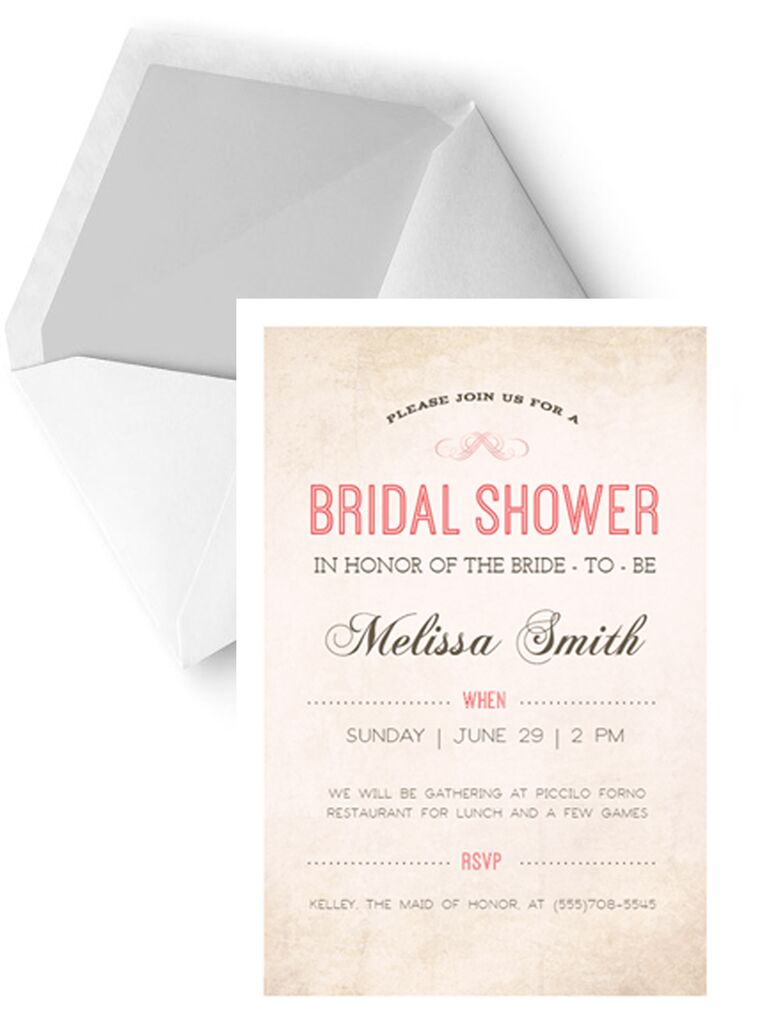 Simple DIY Printable Bridal Shower Invitation Template