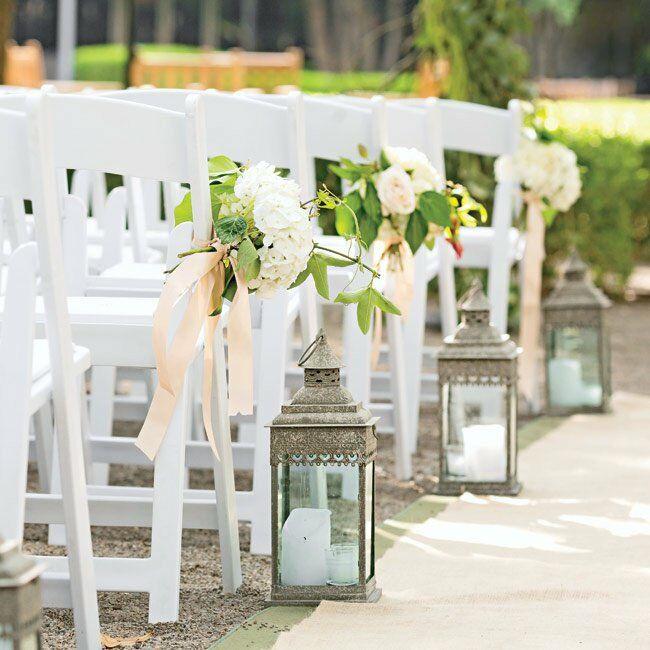 Lantern Lined Ceremony Aisle