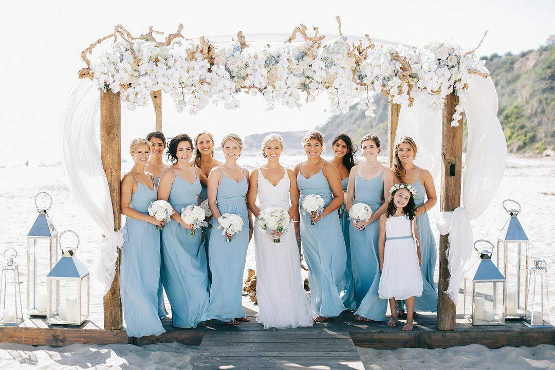 beach wedding aqua bridesmaid dresses