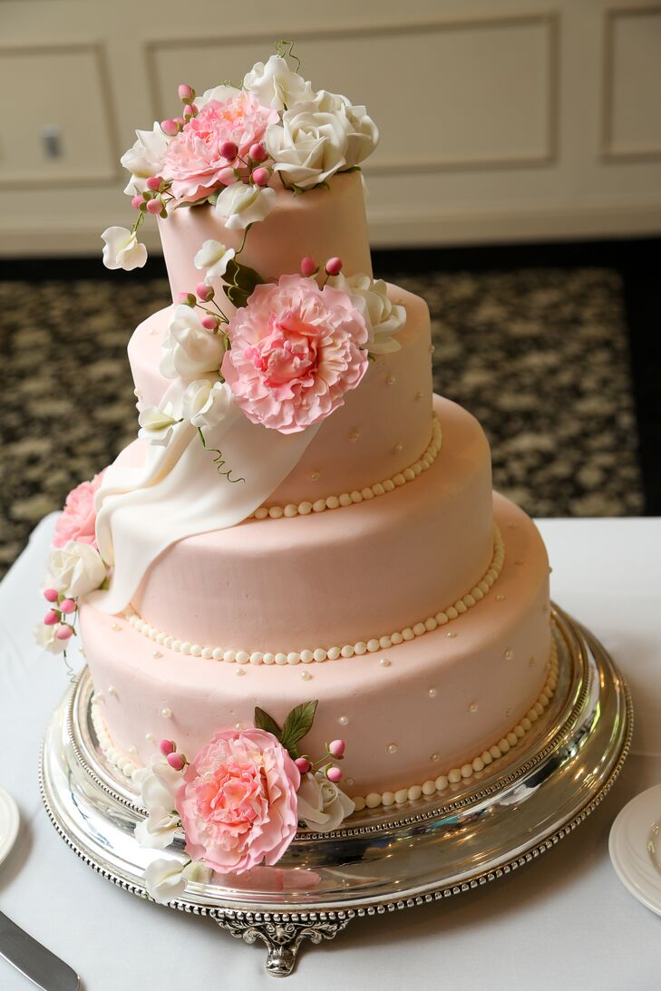 Pastel Pink Wedding Cake - Pastel Pink Wedding Cake