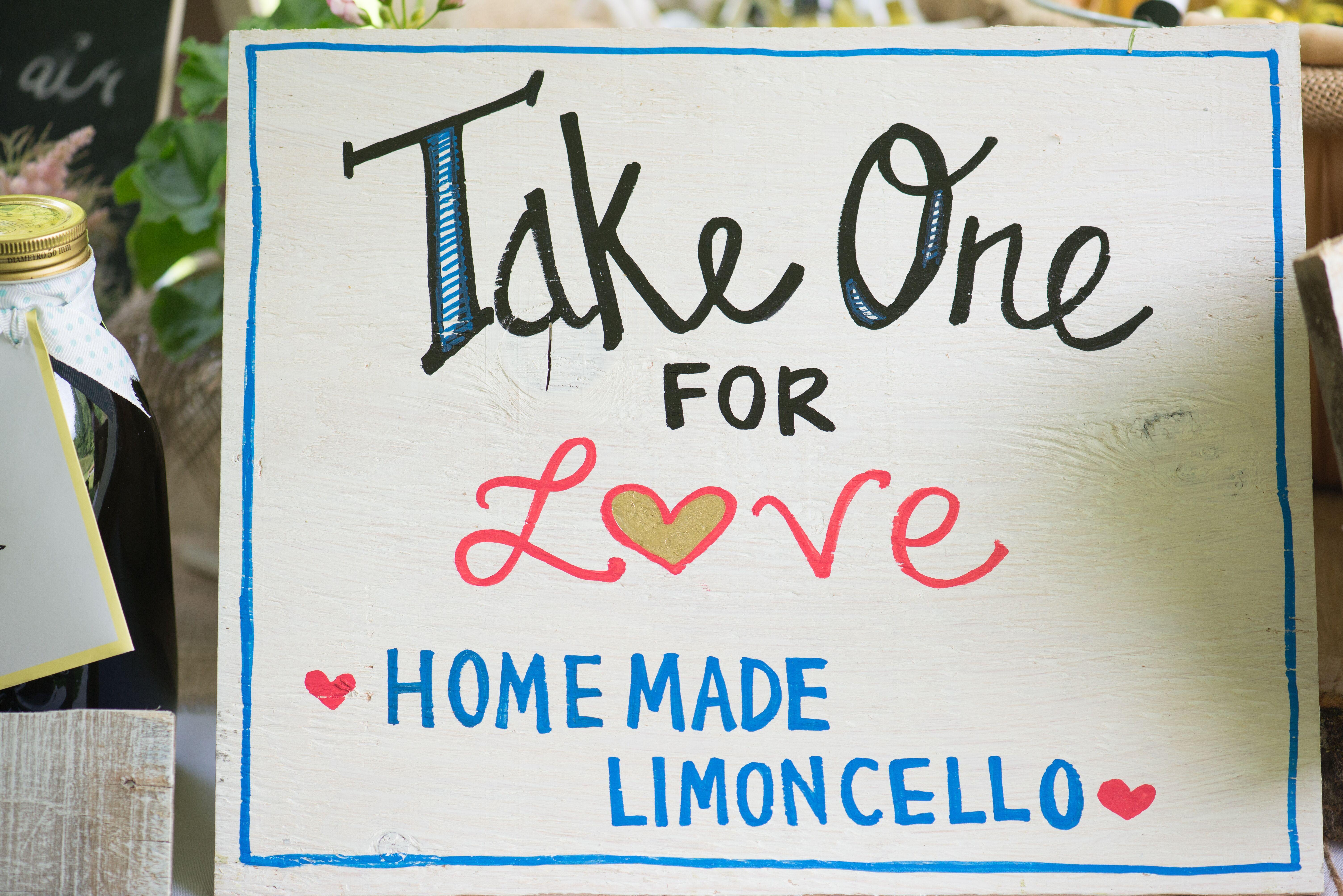 Thank You Sign Wedding Limoncello Limoncello Favor Sign Printable, Grazie Sign Limoncello Favor Please Take One Instant Download
