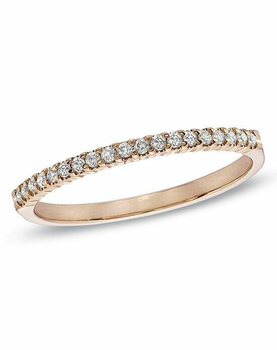 Zales 1/6 CT. T.W. Diamond Prong Band in 10K Rose Gold (HI/I1I2)  18700112 Wedding Ring photo