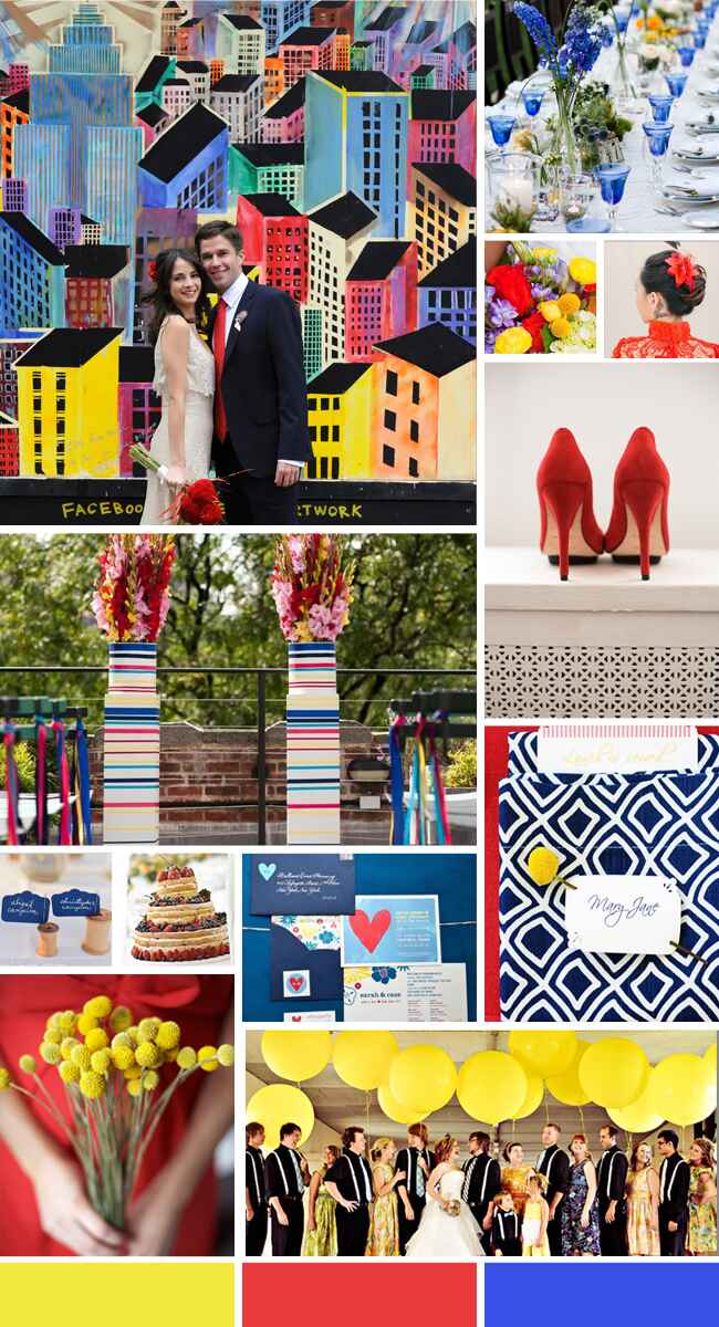 Bold Primary Color Inspiration // The Knot Blog