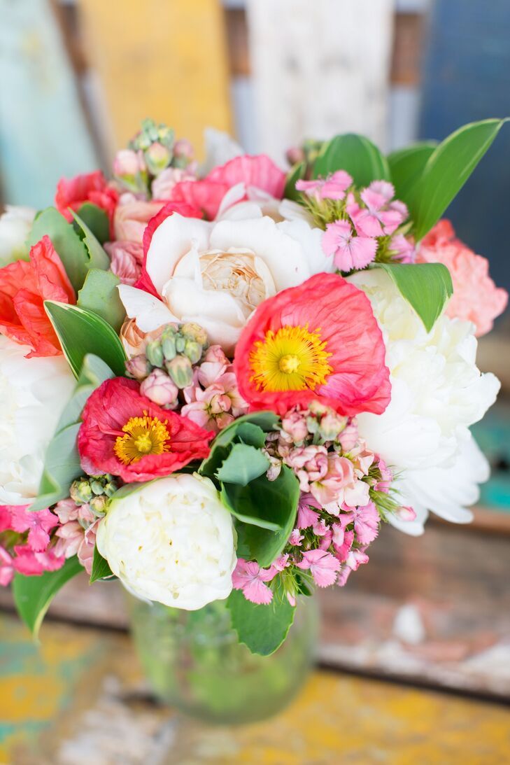 Pink Poppy And Peony Bouquet