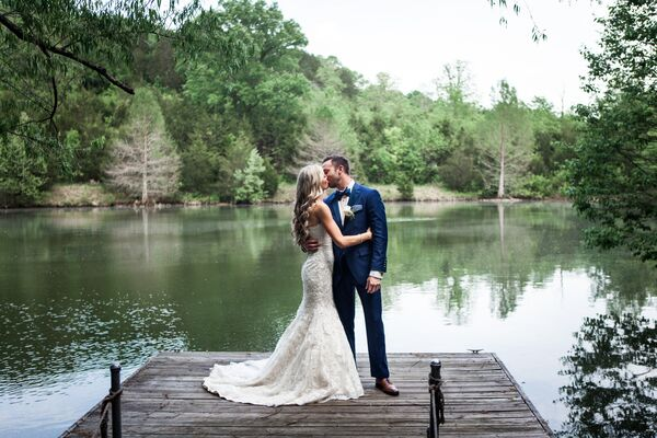 Rustic Southern Wedding First Look