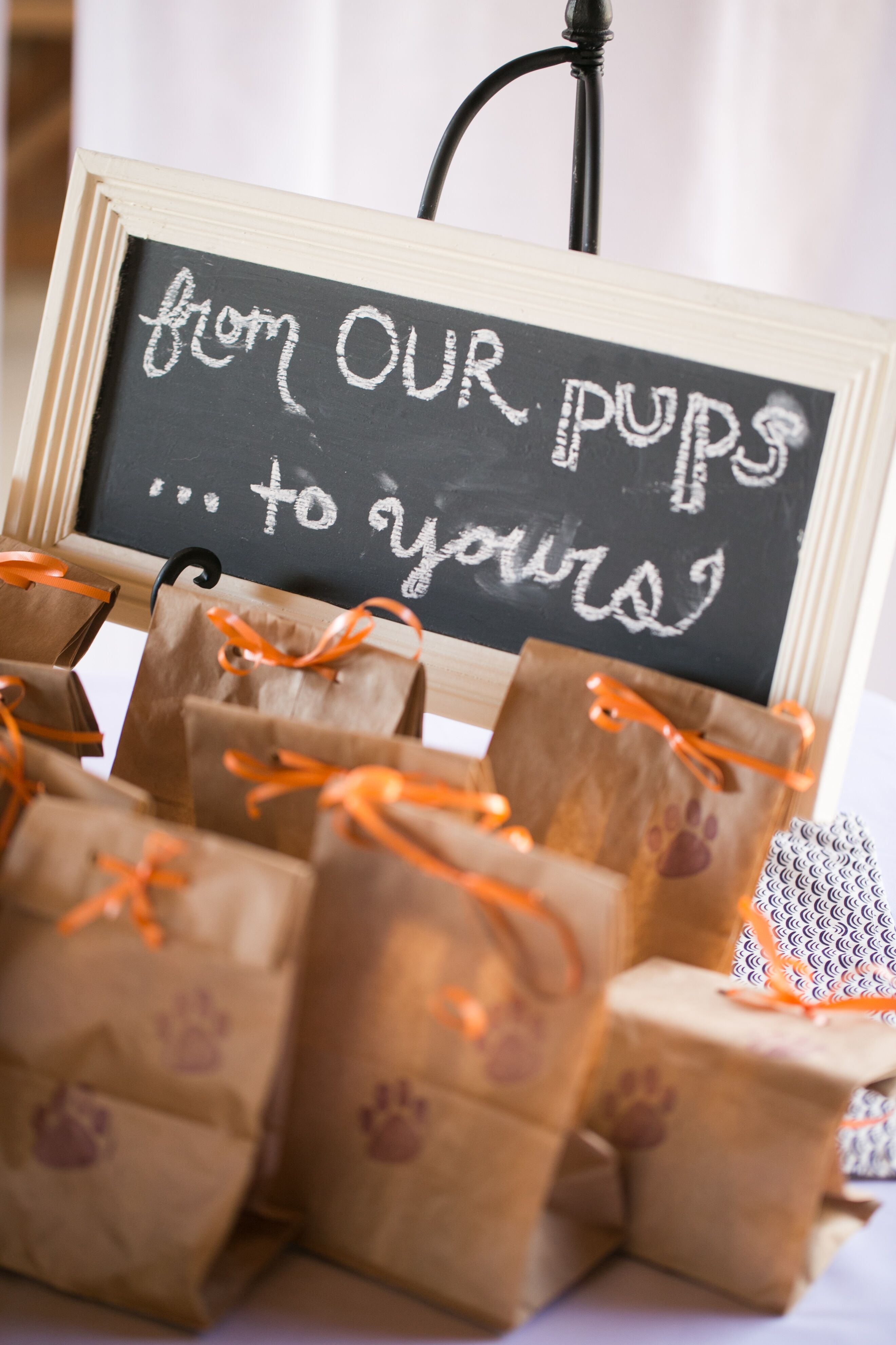 dog wedding favors