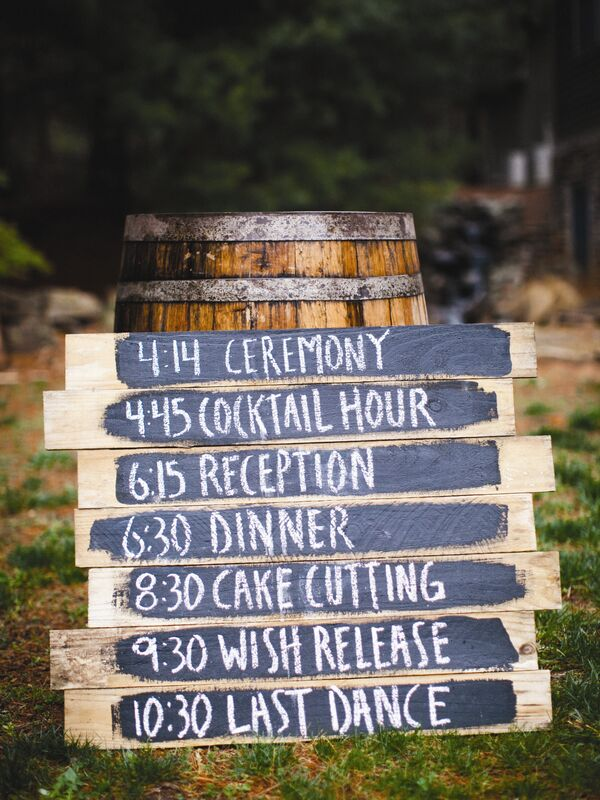 Rustic Wood Schedule of Events