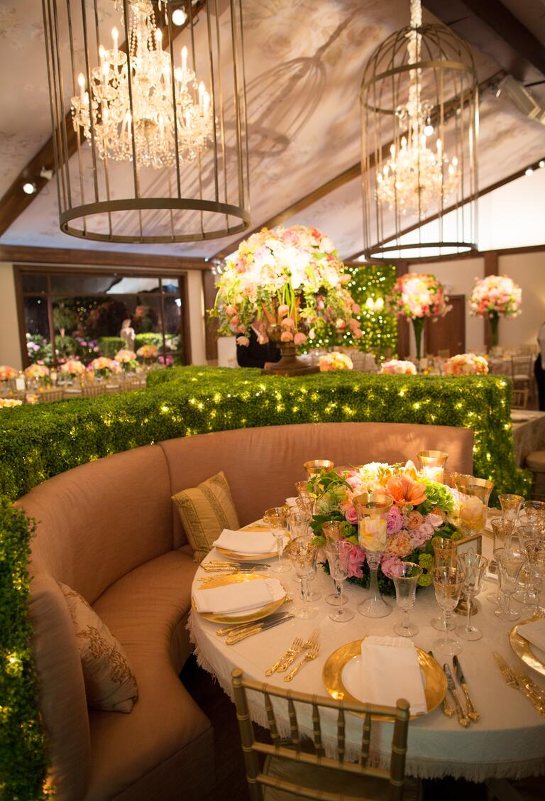 Todd Fiscus's secret garden wedding reception decor