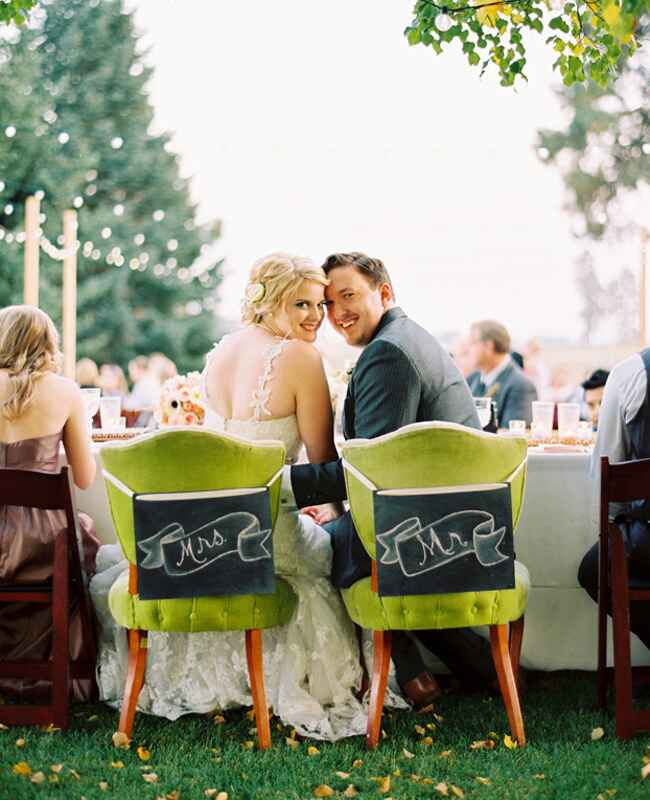 King and Queen Reception Chairs