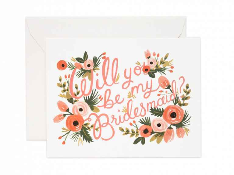 Rifle Paper Co bridesmaid proposal card