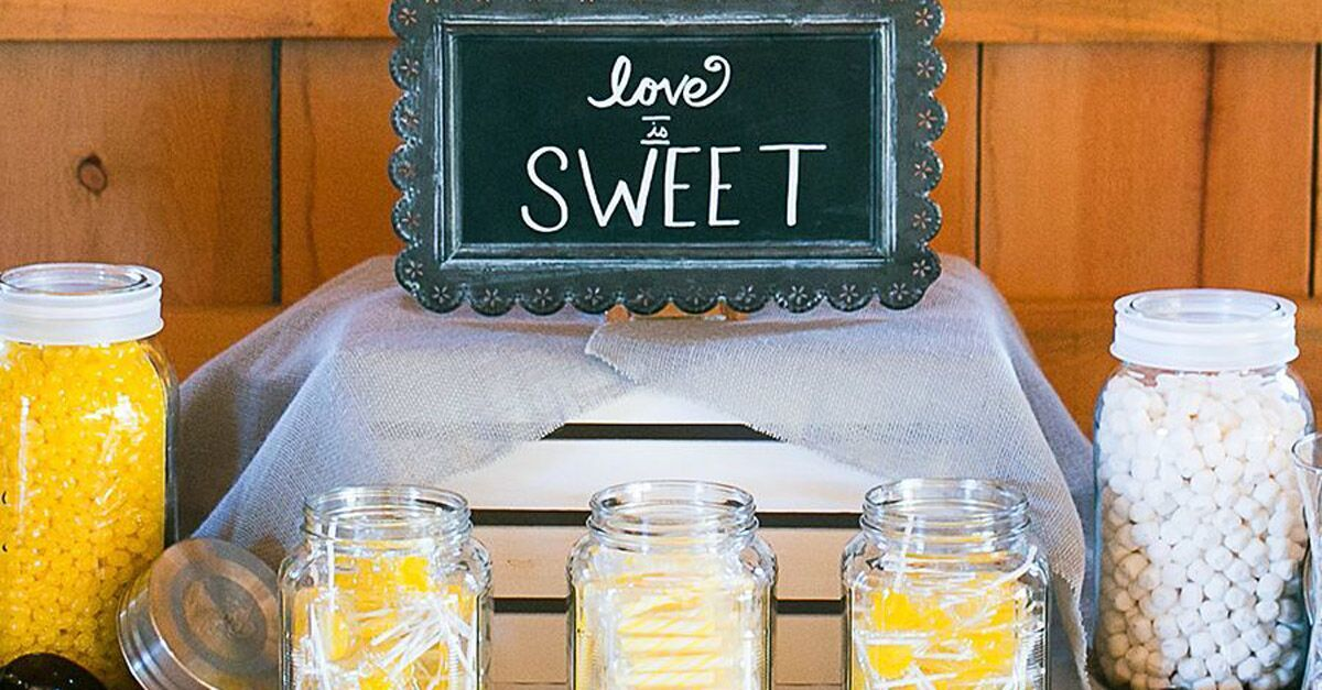 17 Creative Candy Bar Ideas That Can Double as Wedding Favors