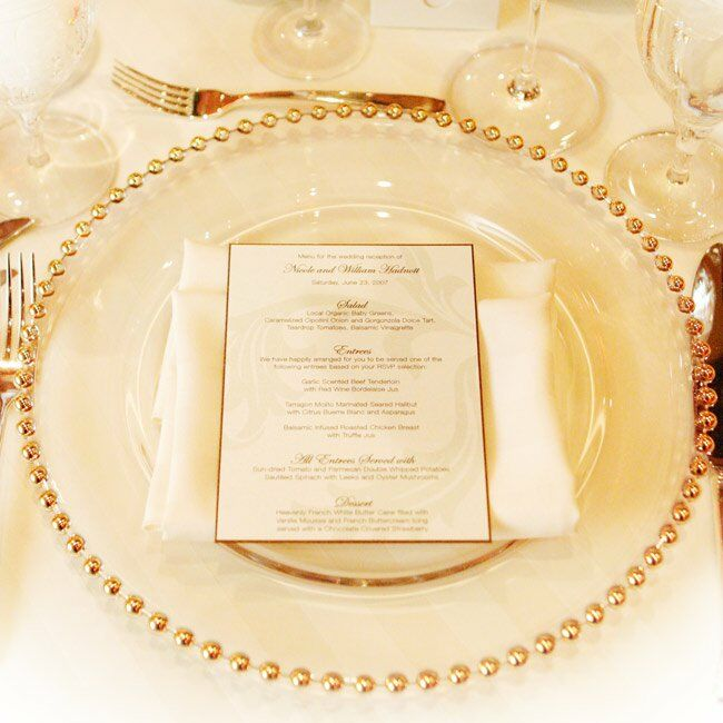 This Placesetting Is To Die Gold Charger Champagne: Nicole & Trey: A Traditional Wedding In Durham, NC