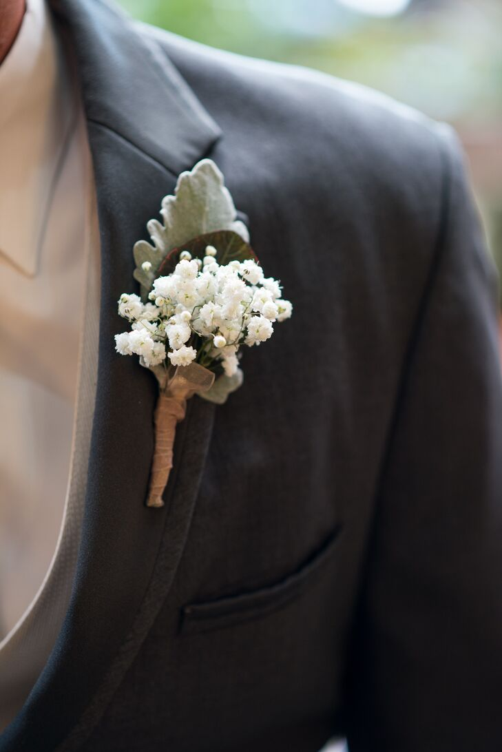 Baby S Breath Lamb S Ear Boutonniere