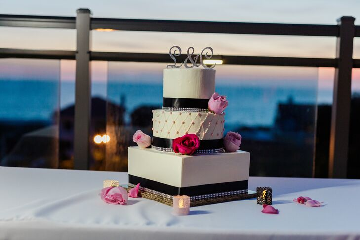 A Black White And Pink Beach Wedding At Hotel Zamora In St Pete