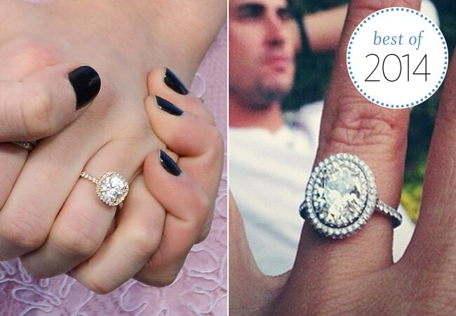 Best Celebrity Engagement Ring Trends of 2014 See the Wedding Rings