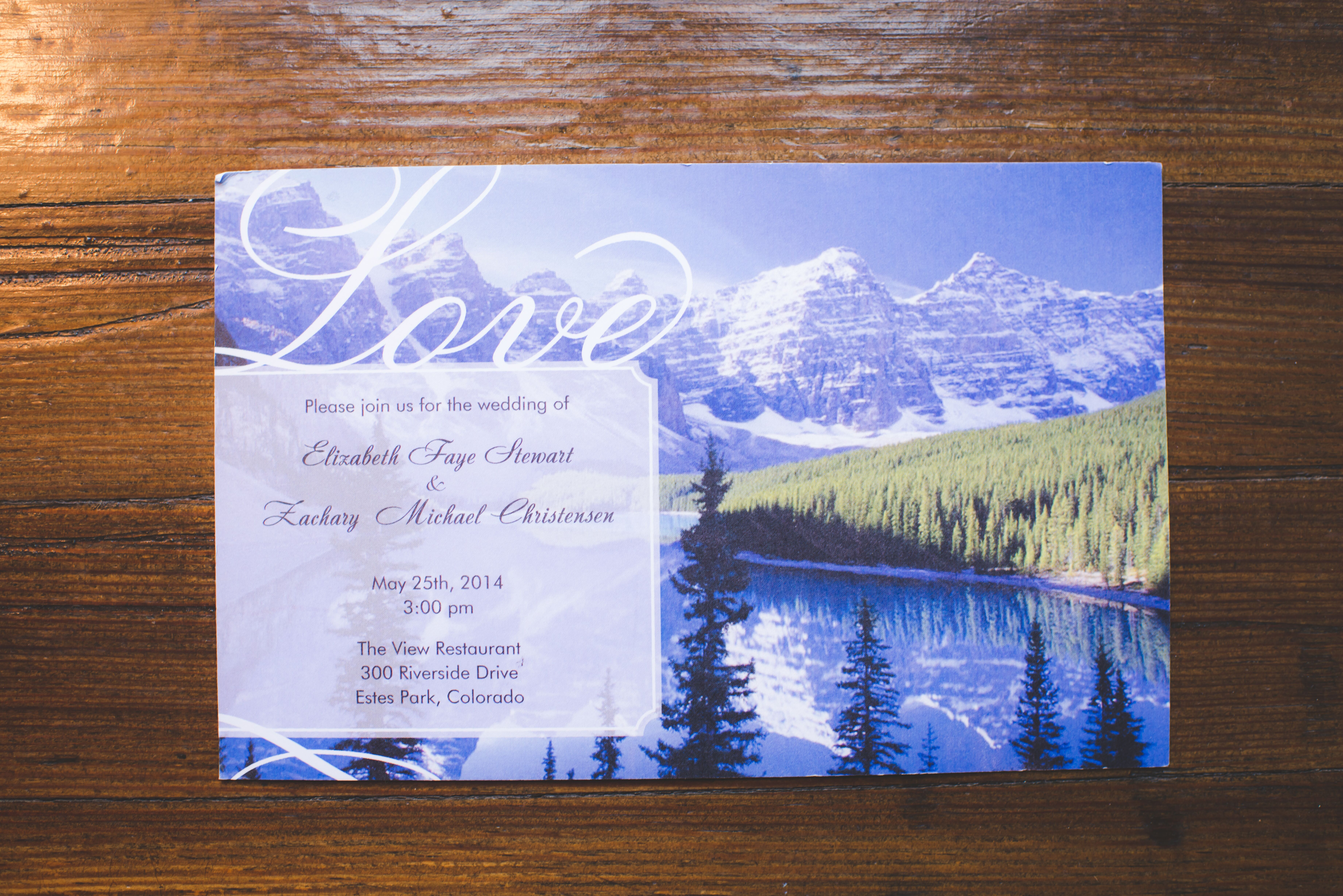Up Themed Wedding Invitations: Mountain-Themed Wedding Invitations