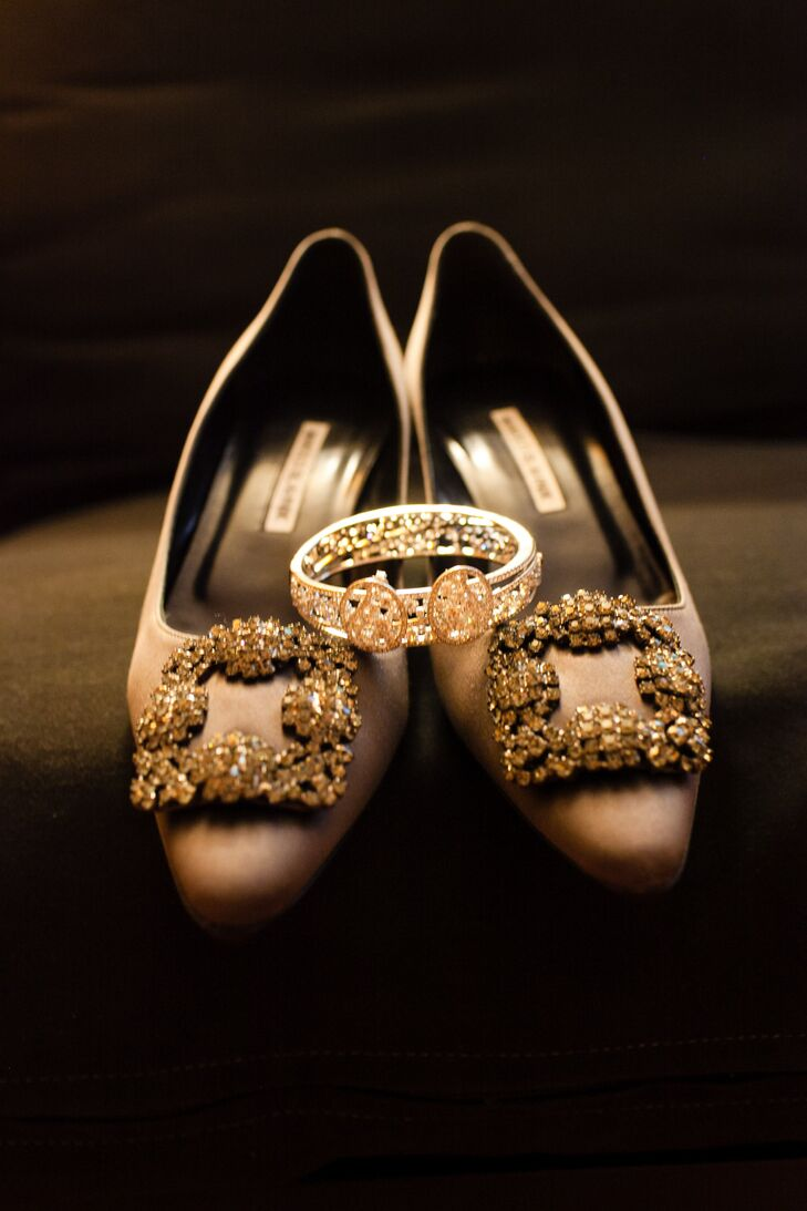 Silver Manolo Blahnik Shoes
