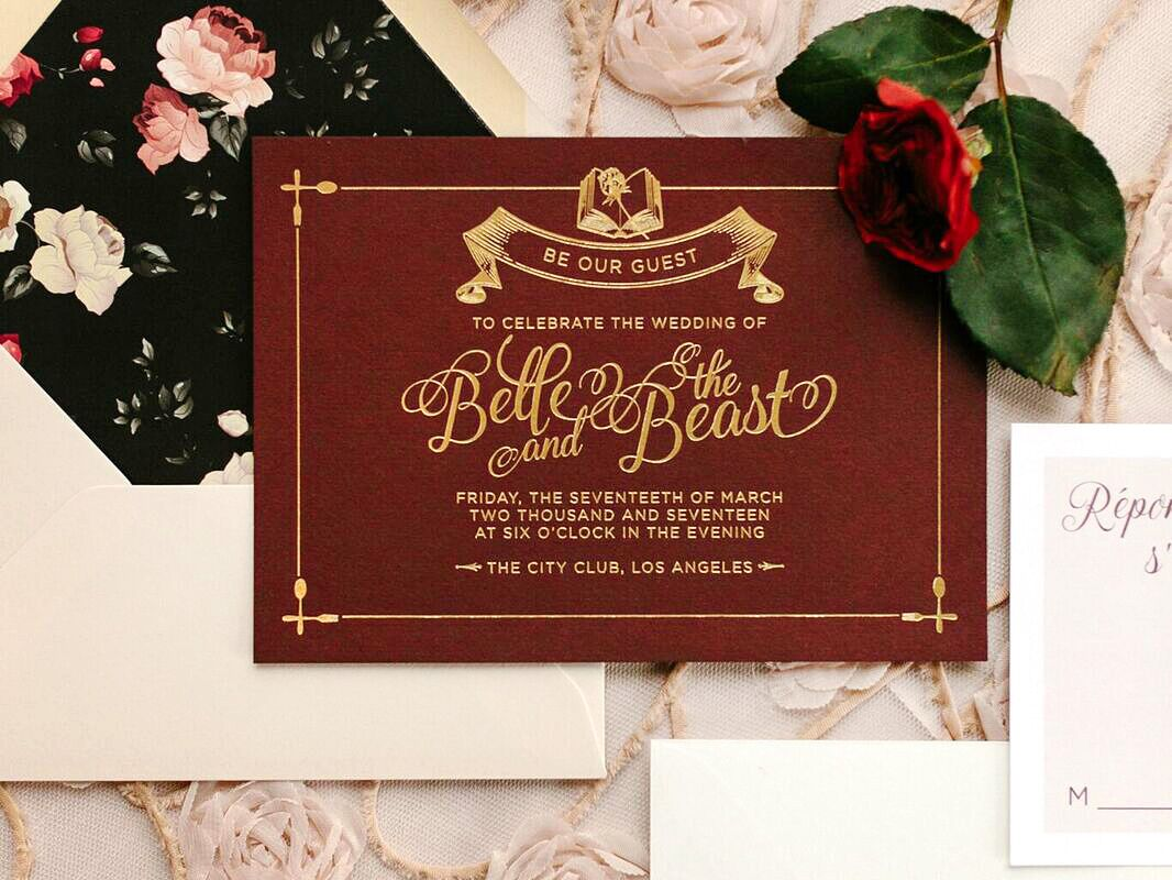 Beauty And The Beast Themed Wedding Invitations: 'Beauty And The Beast' Reception Table Décor