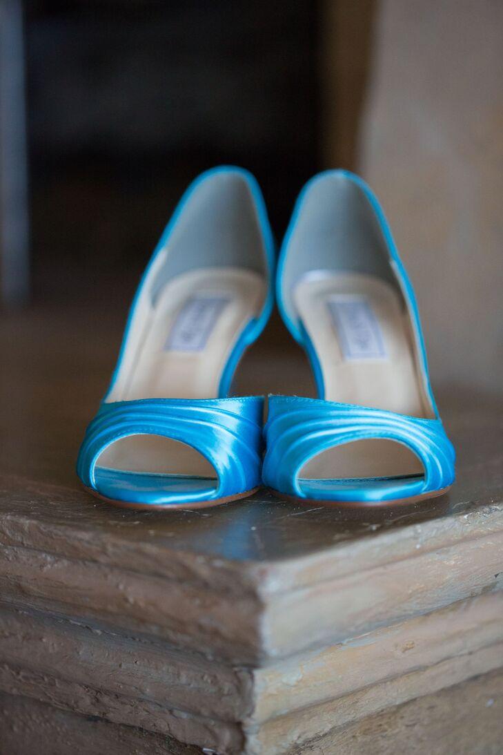 Malibu Blue Open-Toed Bridal Shoes