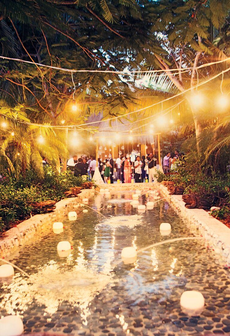 Michelle Rago's destination wedding canopy reception