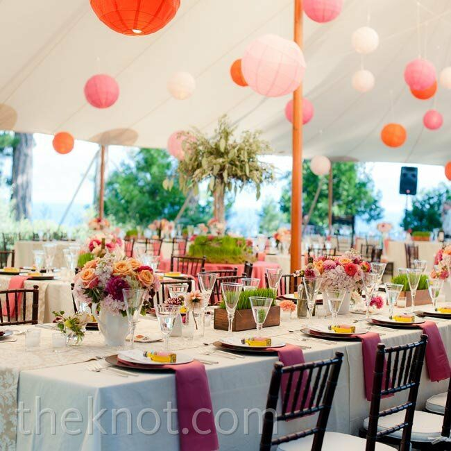 paper lantern reception decor