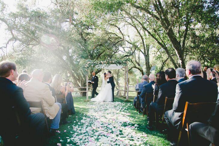 Outdoor Oak Grove Wedding Ceremony