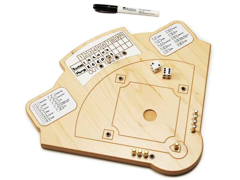 Wooden baseball board game