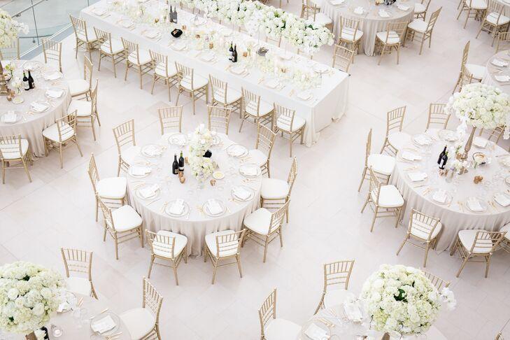 Glamorous All White Wedding Reception