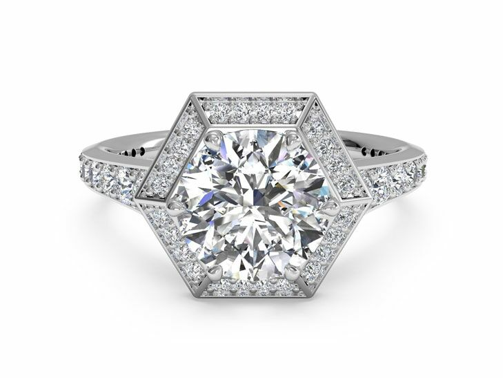 ritani vintage inspired engagement ring - Vintage Inspired Wedding Rings