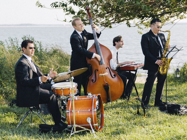 Wedding Band Plays Outdoor Ceremony Music
