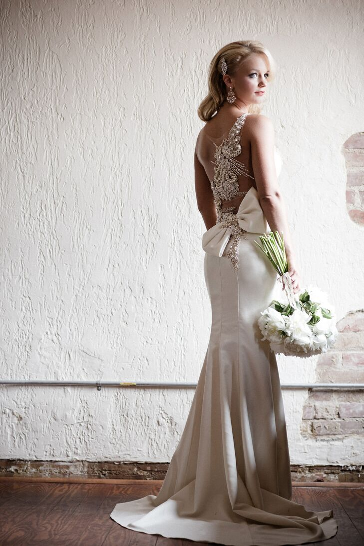 tarik ediz sheath silk wedding dress photo tarik ediz wedding dresses