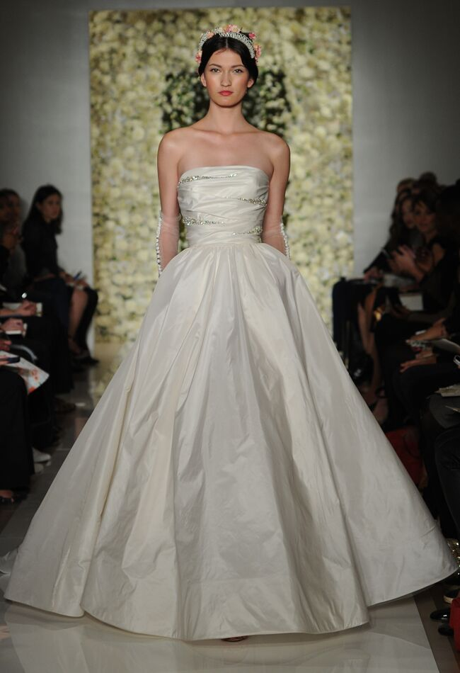 Reem Acra Featured Sheer Crop Top Wedding Dresses and Full ...
