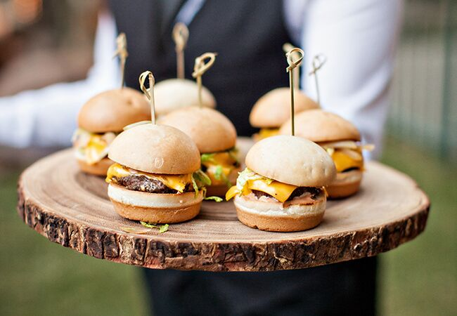18 comfort food ideas for your wedding menu or cocktail hour wedding cheeseburgers junglespirit Image collections