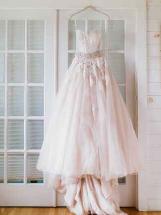 Allure Bridals blush pink wedding gown by Allure Bridals
