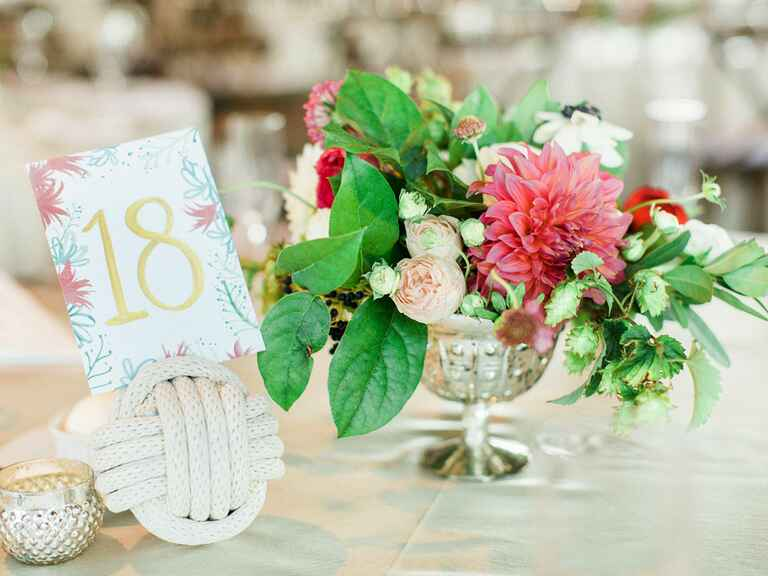 Wedding table decor in Michigan