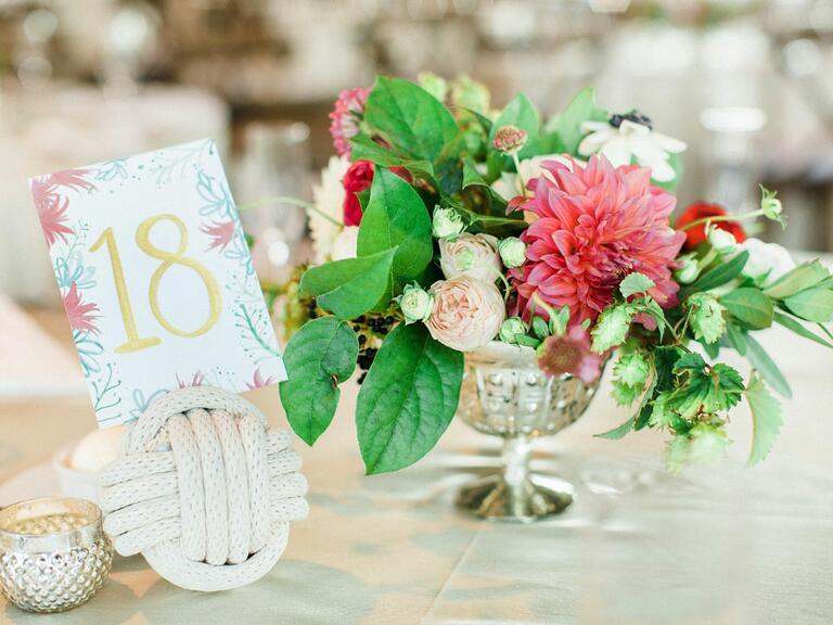 Wedding table decor in Michigan