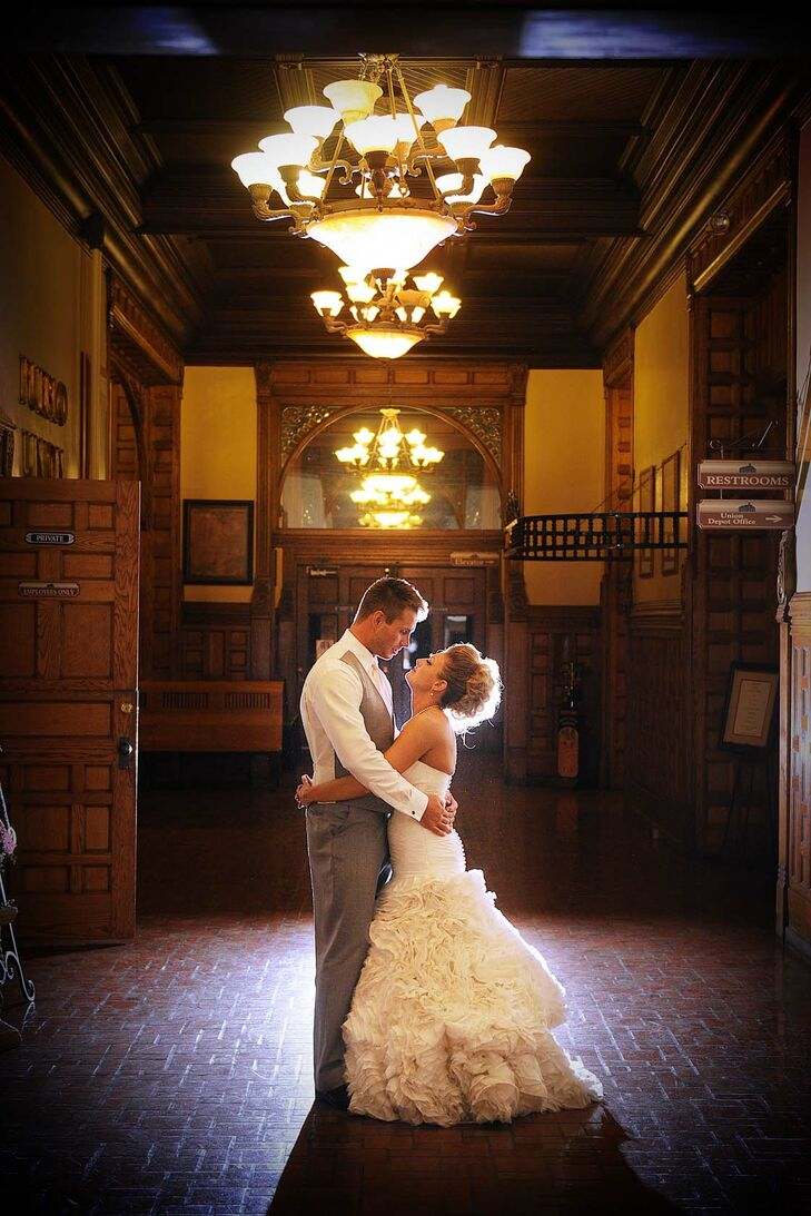 Shandace and jake at pueblo union depot in colorado for Fitness depot wedding