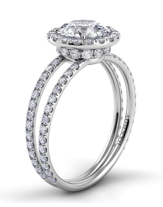 Danhov Eleganza Double Shank Halo Engagement Ring photo