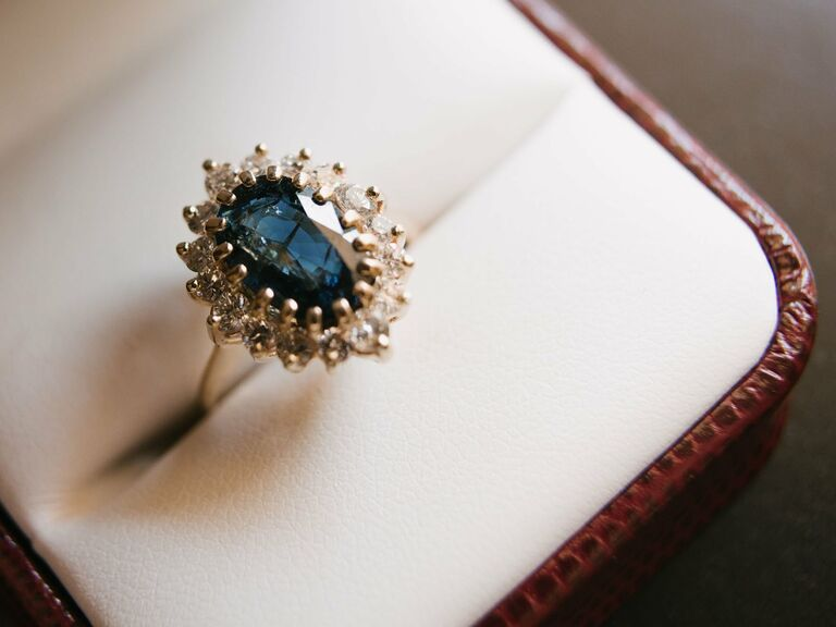 Real Blue Engagement Rings