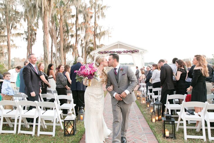 Vintage Wedding Dresses Florida: A Glitzy, Gold And Purple Wedding At The Cypress Grove