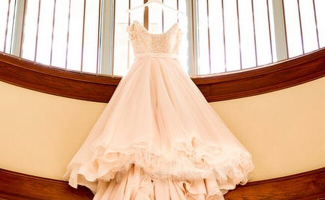 Jinger Duggar Wedding Dress.Jessa Duggar S Blush Wedding Dress See The Photo