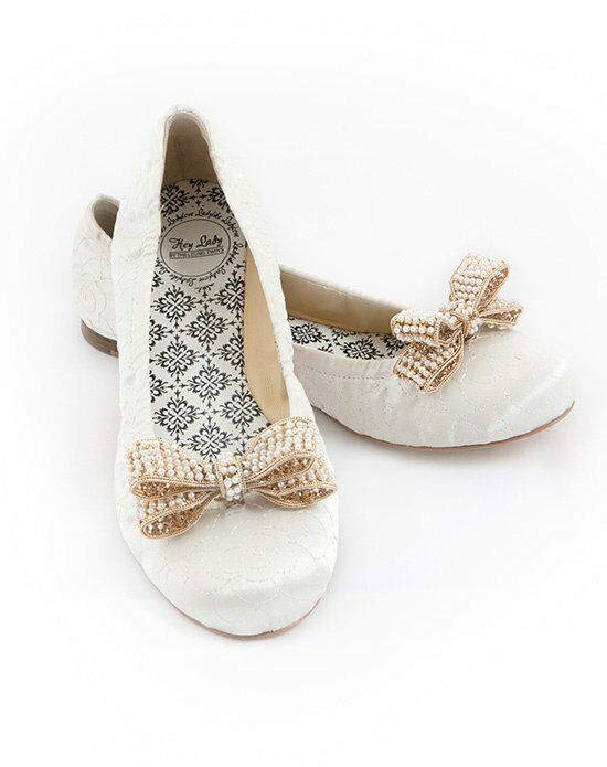 Hey Lady Shoes Smitten w/little pearl bow Wedding Accessory photo