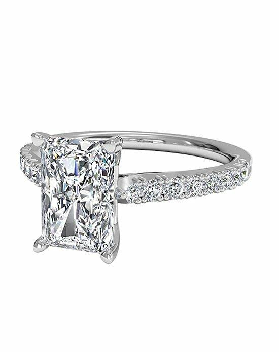Ritani Radiant Cut French-Set Diamond Band Engagement Ring in 18kt White Gold (0.23 CTW) Engagement Ring photo