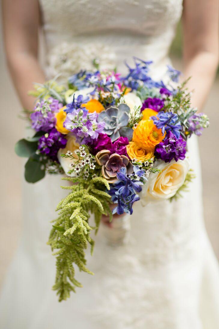 Bright textured bridal bouquet for Bright wedding bouquet
