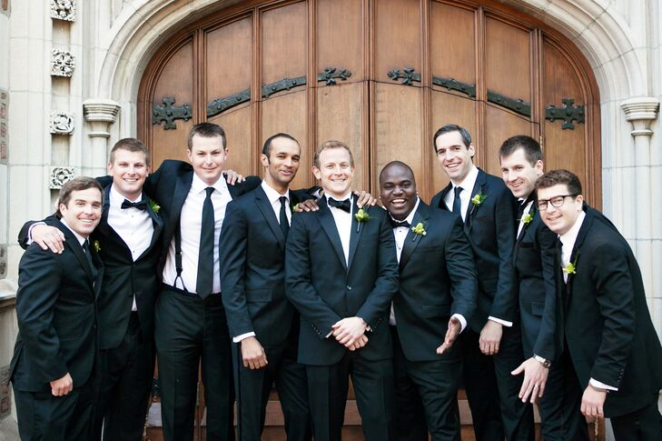 Traditional Black Tuxedos and Ties