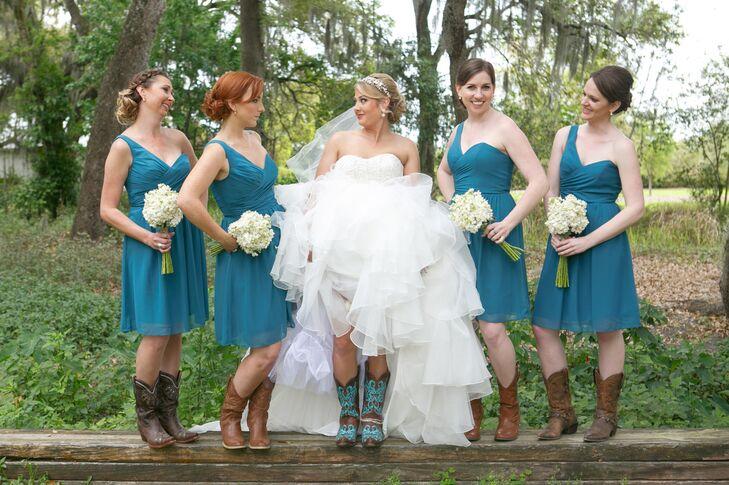 Teal Dress Cowboy Boots