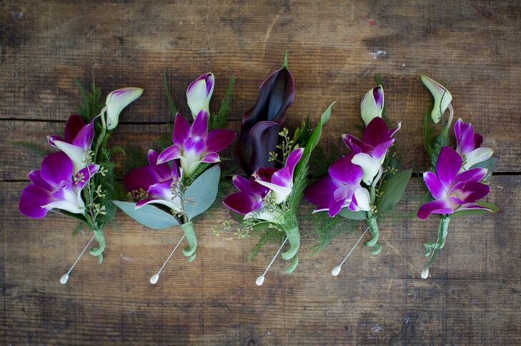 Purple Orchid Boutonnieres