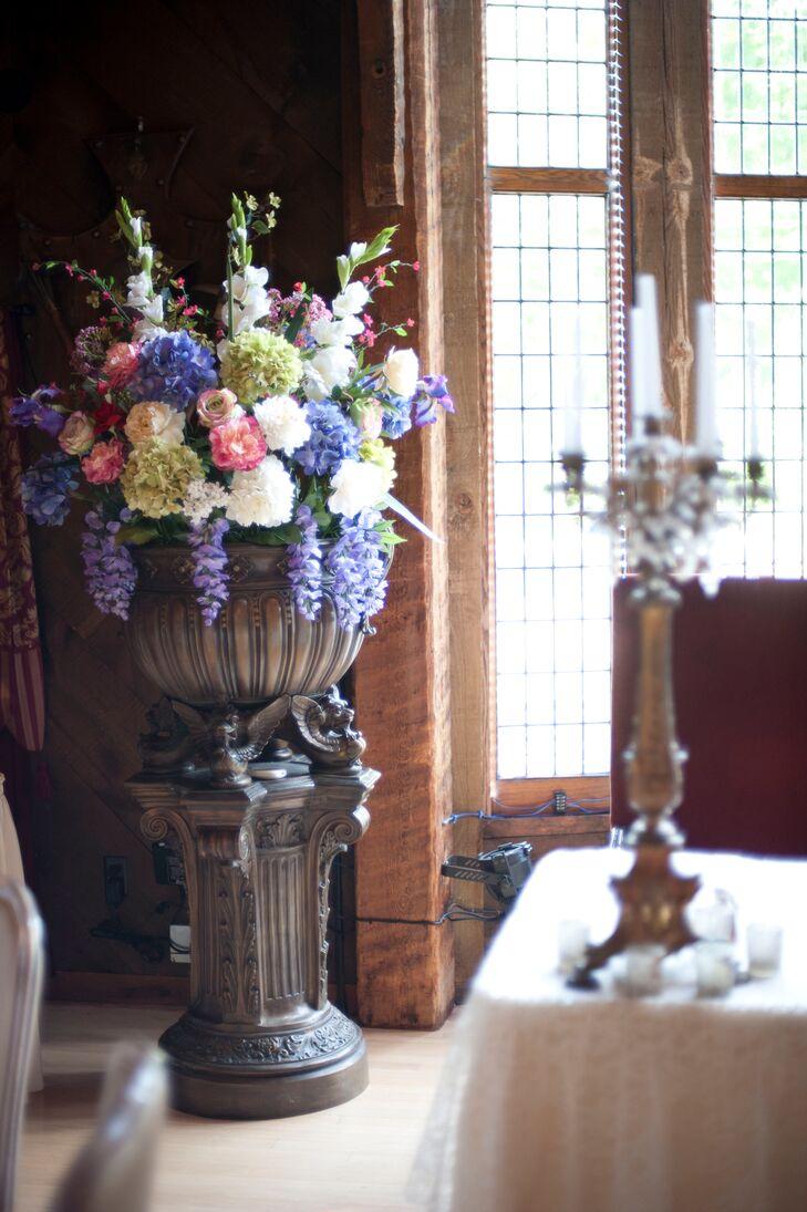 Roses, Hydrangeas and Hyacinth Flower Arrangements